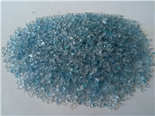 G04 Crushed Glass Glass Chips-Light Blue