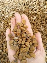 Grain Yellow Granite Crushed Stone Chips Aggregate
