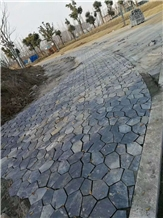 Grey Slate Irregular Crazy Paving Walkway Road