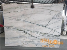 Aurora White and Green Marble Slabs & Tiles