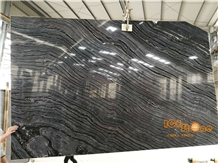 Silver Wave Zebra Kenya Black Marble Slabs & Tiles