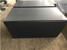 Black Basalt Honed Bench Sitting Wall