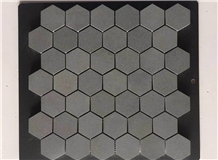 Andesite and Basalt Hexagon Marble Mosaic Tile