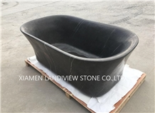Black Marquina Marble Bathtub