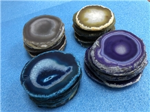 Hot Sale Decorated Translucent Agate Slices