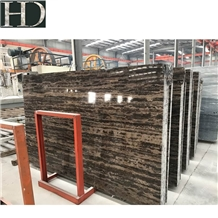 Chinese Coffee Brown Tiny Gold Coast Marble Slabs