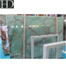 Verdant/Green Onyx Slabs&Tiles Pale Cyan Jade Slab