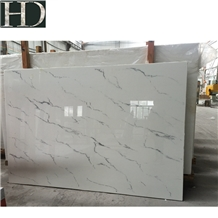 White Nano with Veins Slabs and Tiles Stone