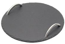 Black Slate Plate Food Tableware Application