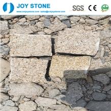 Cheap G682 Yellow Granite Split Paving Stone Cube