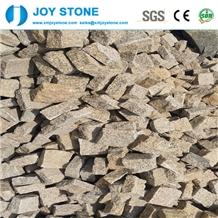 Cheap Yellow Granite Split Paving Cube Stone Paver
