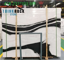 China Panda White Marble Slabs for Wall