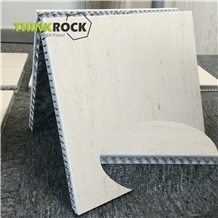 Moca Cream Limestone Backed Honeycomb Wall Panels