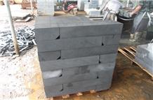 Polished Hainan Andesite Black Basalt Kerbstones