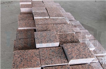 Tian Shan Red Granite Cubes Red Granite Pavers
