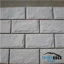 White Quartzite Wall Bricks, Cultured Stone Panel