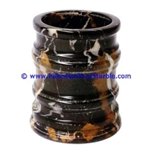 Black Gold Marble Tumbler Bathroom Accessories
