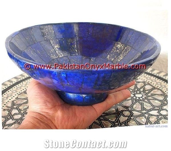 Natural Blue Lapis Lazuli Bowl  956gr 21.7x9.8x0.8cm From Pakistan