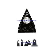 Marble Clocks Pyramid Shape Handcarved Natural