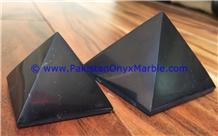 Marble Pyramids Jet Black Marble