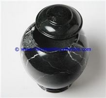 Marble Urns Black Zebra Adult Pet