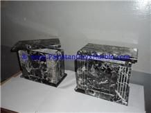 Marble Urns Black Zebra Marble Urns