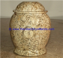Marble Urns Fossil Corel Adult Pet