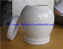 Marble Urns Ziarat Carrara White Adult Pet Ash Urn