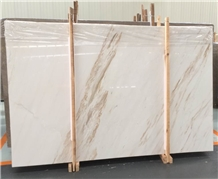 White Marble Flooring &Walling,Ariston Marble Slab