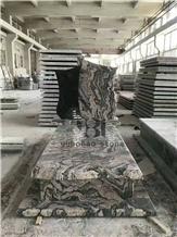 China Juparana Grey Granite,Tombstone/Headstone