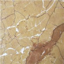 China Polished Karen Gold Marble Slab