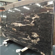 Nebula Black Granite Slab