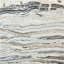 Zebra Onyx Black and White Veins Slab