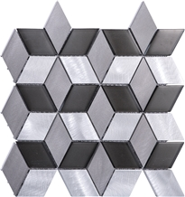 Color Aluminum Steel Mixed Metal Mosaic Tile
