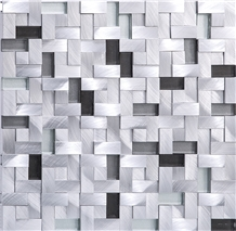 Silver Brush 304 Stainless Steel Metal Mosaic