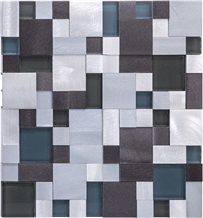 Wall Colour Stainless Steel Metal Mosaic