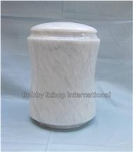 Ziarat White Marble Cremation Urn