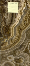 Jordan Brown Onyx Slabs, Tiles