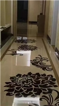 Waterject Cut Medallions Tiles for Floor Covering