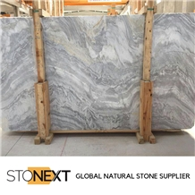 Nebula Grey Marble Slabs
