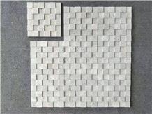 Bianco Romano Travertino Mosaic Flooring Tiles