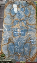 Bookmatch Cielo Del Sahara Blue Onyx Slabs Price