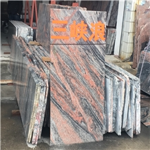 China Symphony Multicolor Red Granite Floor Tiles