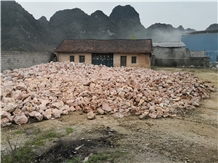Crushed Light Red Aggregates Stone for Landscaping
