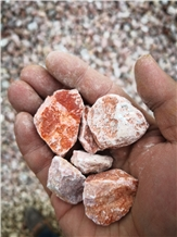 Crushed Light Red Gravel Stone for Landscaping