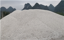 Crushed White Calcite Gravel Stone for Landscaping