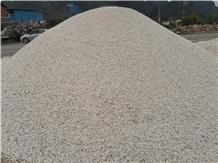 Crushed White Marble Gravel Rubble Pepple Stone