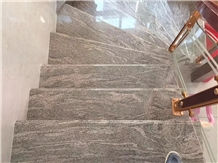 Juparana Sea Wave Gold Pinke Granite Steps Stairs