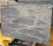 Light Amazon Grey Marble with Green Veins Slab