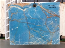 Luxury Dream Ocean Blue Onyx Slabs Price
